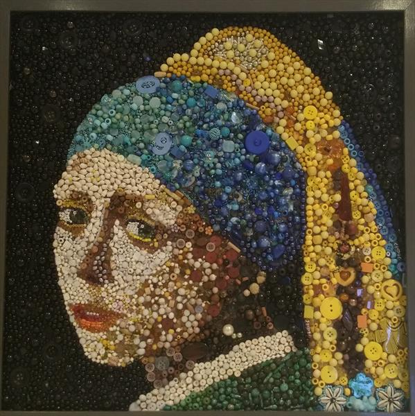 The Girl with the pearl earing (replica) by Nora Nikolova
