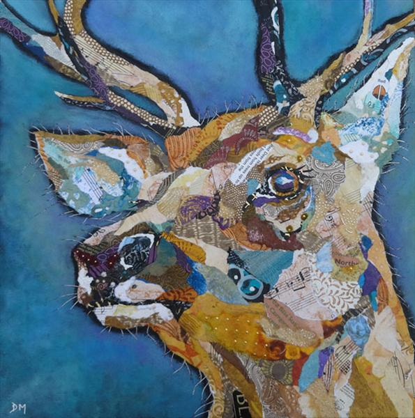 Red Deer Buck II(Print) by Dawn Maciocia