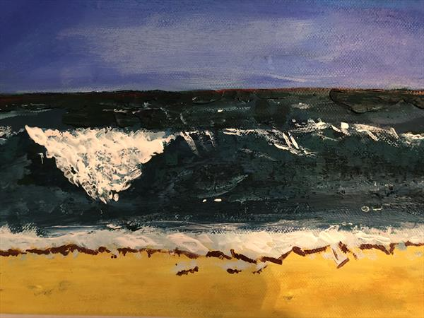 Crashing wave by Malcolm Hyde