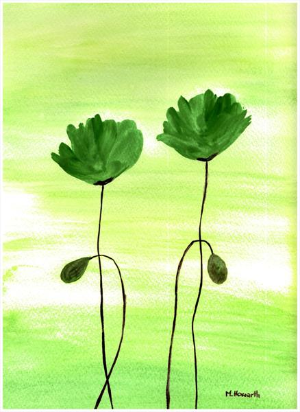 Green poppies nr 2