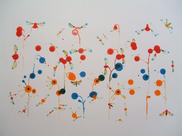 Flowers and Flies by Andrew West