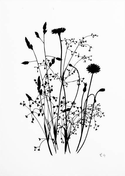 Wild Grass #1 (black) by Kathryn Edwards