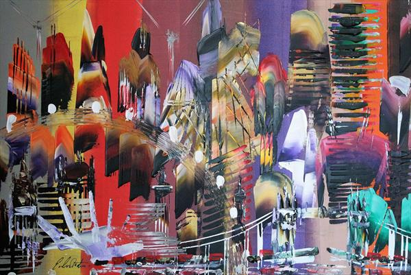 City of London Abstract Painting 2028 by Eraclis Aristidou