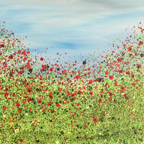 Burst Of Poppies #2 by Lucy Moore