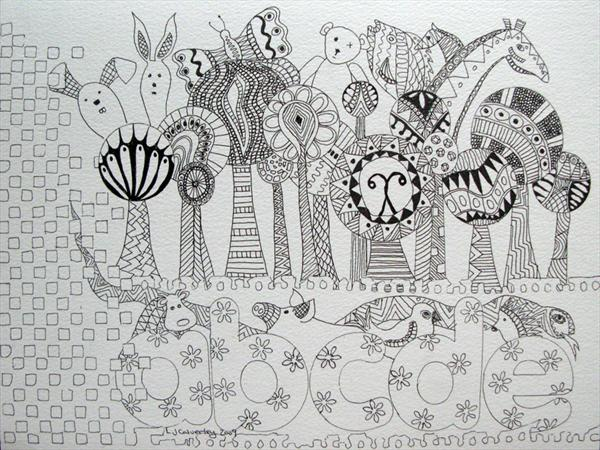 Lolly Pop Tree Zoo by Linda Calverley
