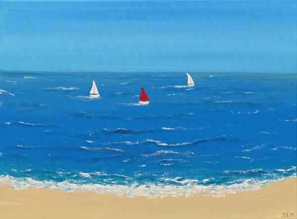 Seaside Sailing by Jacqueline Moore