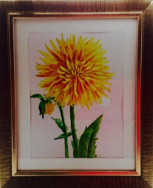 Dahlia for CANCER charity by Sheila Skilton