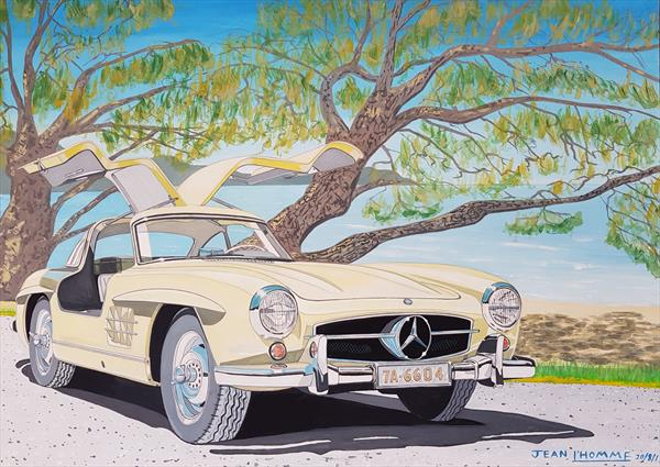 1955 Mercedes Benz 300SL by Jean L'Homme
