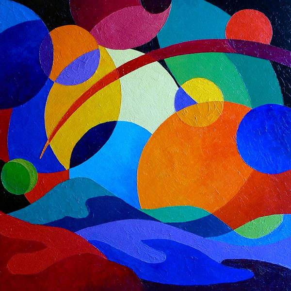 Abstract - Celestial Bodies by Stephen Conroy