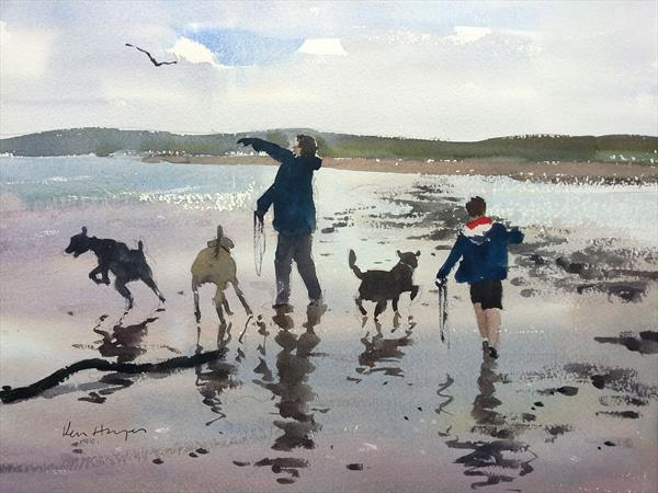Doggies Playtime by Ken  Hayes