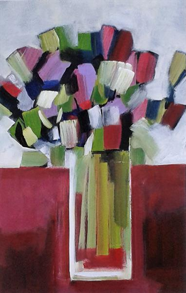 Mixed Bouquet with White Tulips by Jan Rippingham