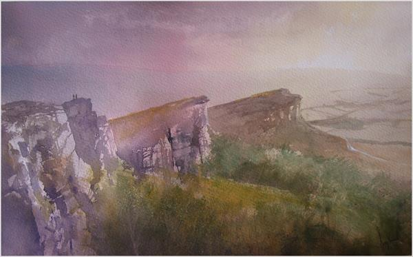 Last Light On The Roaches, Derbyshire by Greg Howard