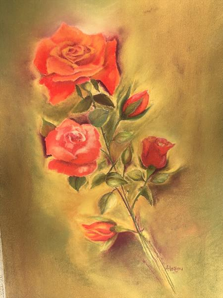 """""""Roses"""" by Alison Hinton"""