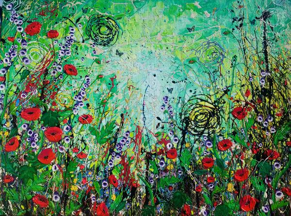 The Poppy patch by Angie Wright