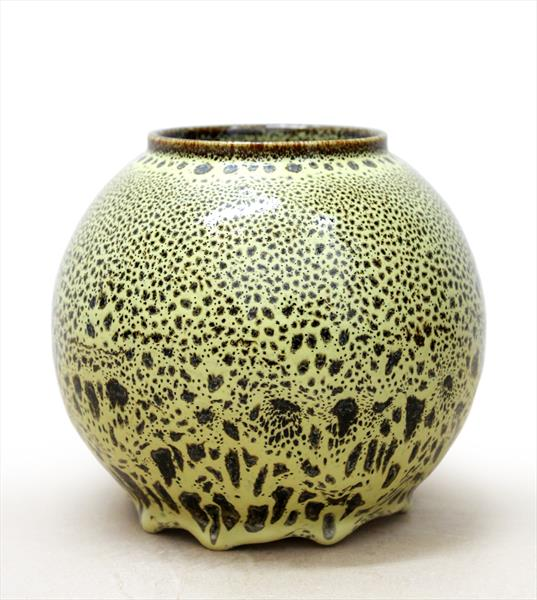 Vase with Yellow Oil Spot Glaze by Albert Montserrat
