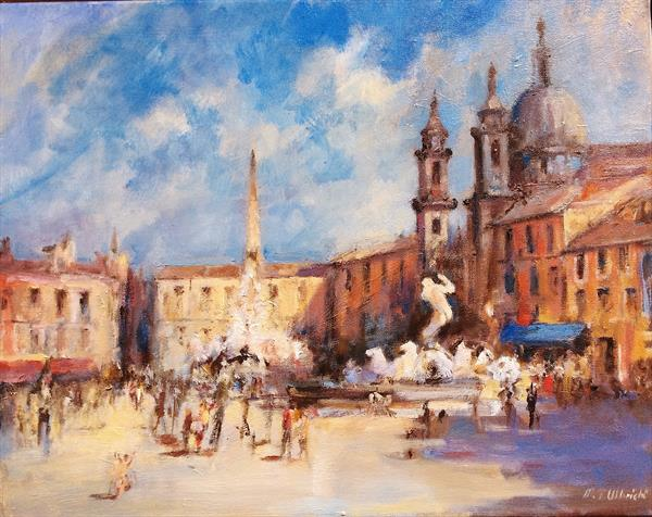 Piazza Navona Rome by Martin Ulbricht