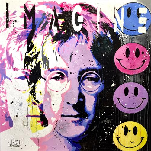 John Lenon, imagine, pink version by Patrick Cornee
