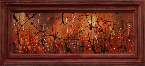 Autumn Melodies #3 Framed - Original floral painting by Cecilia Frigati