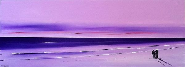 On Pink and Purple Shores by Peter Stevenson