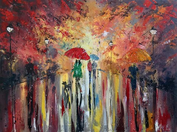 Raining in the park  by Pippa Buist