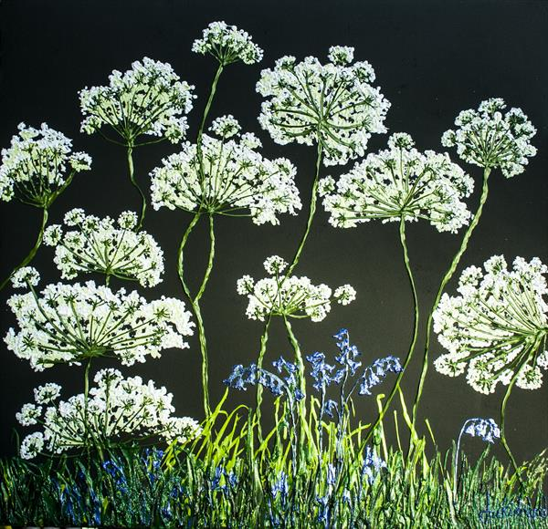 Cow Parsley and Bluebells by Jackie Ward