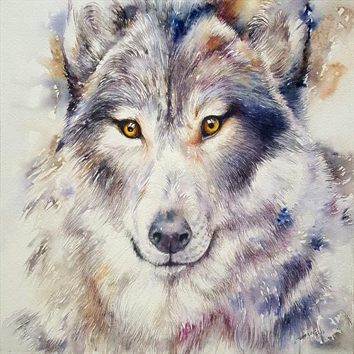 Grey Wolf Gregory by Arti Chauhan