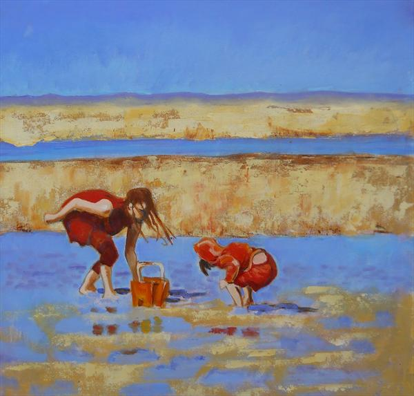 Bucket and Children by Mary Kemp