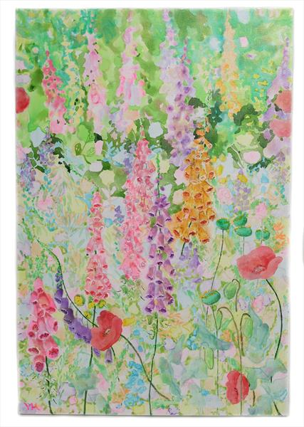 Foxgloves by Veronica  Haldane