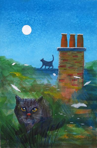 Cats and Chimneys by Tony Lilley