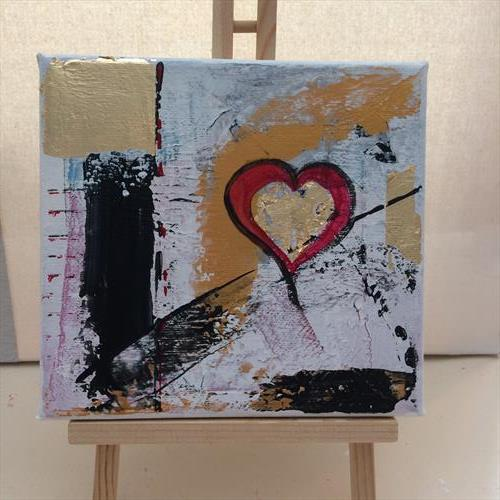 Heart Abstract Three by Rosie Cunningham
