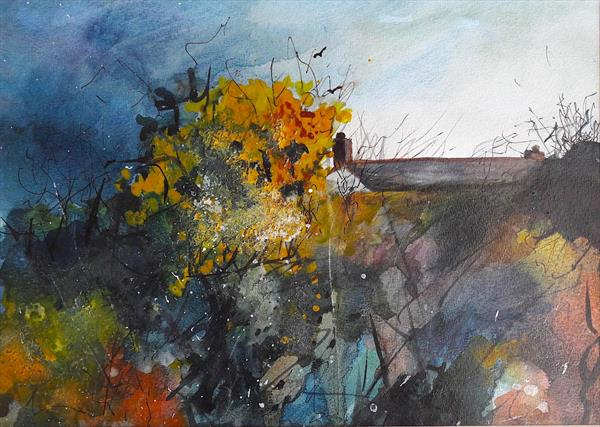 Cottage in the gorse by Teresa Tanner