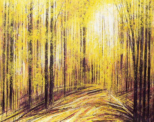 Forest Trees In Autumn by Marc Todd