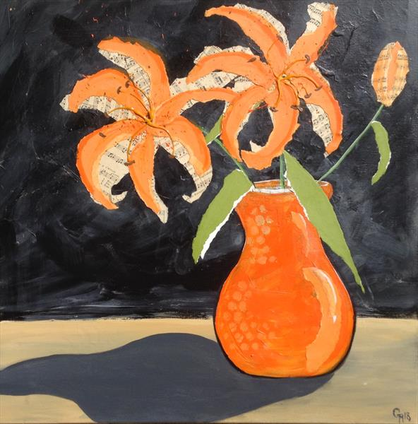 Orange Lilly's by Gill Masters