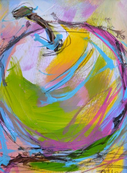 Colourful Apple I - Original Painting by Tracy - Ann Marrison
