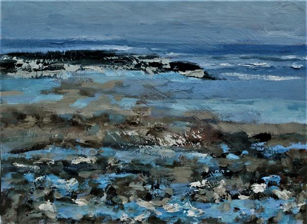 Bright Winter Beach by Nikki Wheeler