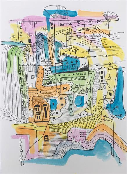 Abstract city by Aasiri Wickremage