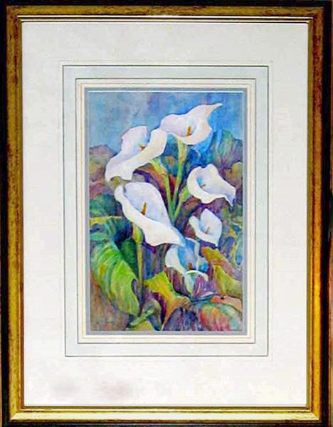 Arum Lilies by Jean Simpson