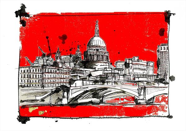 St Paul's (red) by Keith Mcbride