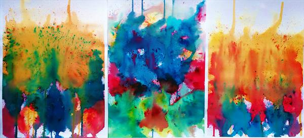 Riot Triptych by Sue  Mobbs