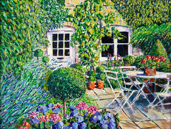 TOPIARY TERRACE by Diana Aungier - Rose
