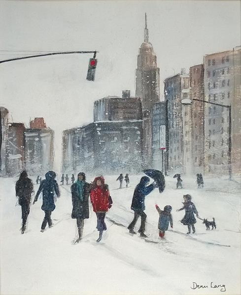 New York Snow Storm by Demi Lang