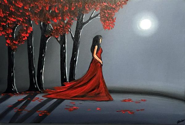 Lady In Red 4 by Aisha Haider