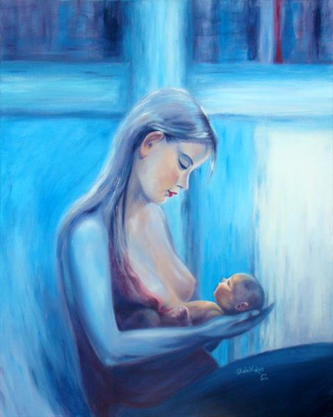 A Young Mother's Love by Sheila Vickers