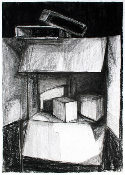 Still Life with Boxes by Pamela Rys