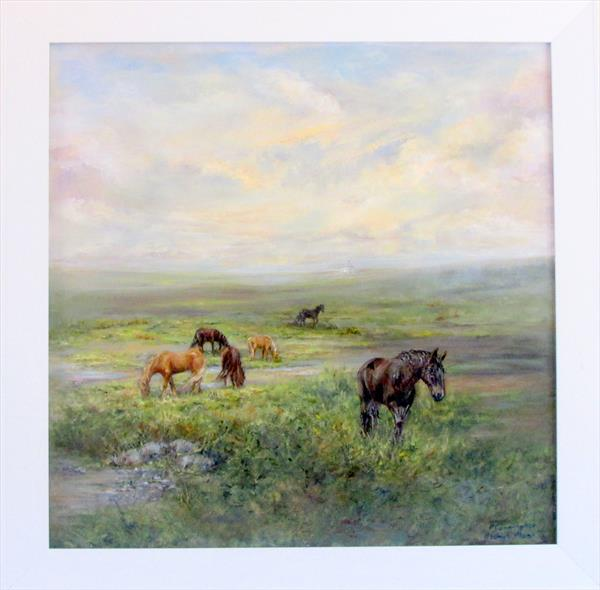Horses On Bodmin Moor by Patricia Cunningham