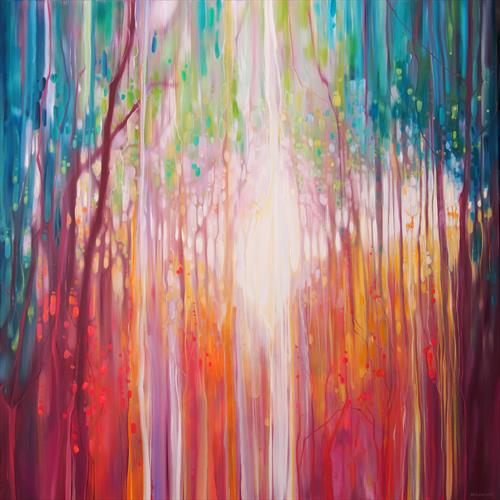Revelation - a path through an autumn wood by Gill Bustamante