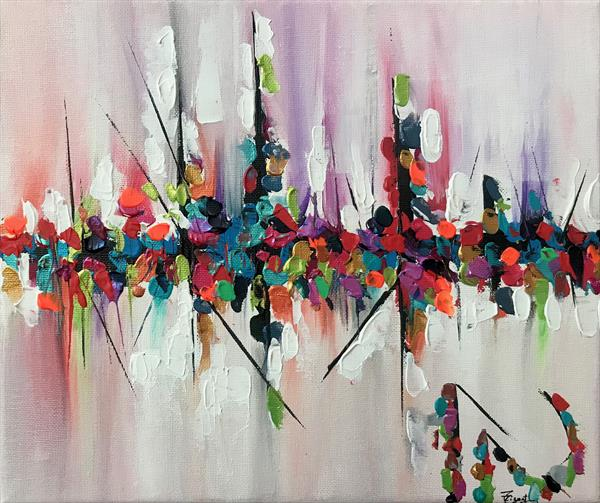 Speed Abstract 114 Painting by  Rizna  Munsif