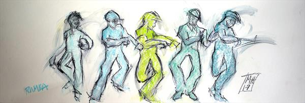 Rumba sketches by Melanie Hamer