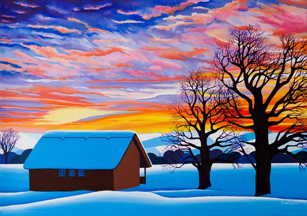 Winter Sunset by Shirley Netherton