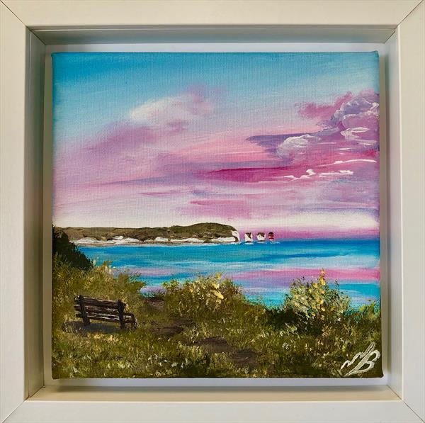 Pink Sunrise over the Isle of Wight by Marja Brown